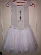 Eliane Et Lena White Tulle Dress Size 8 Years