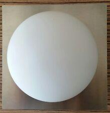 Leucos applique Minigio' con diffusore in vetro bianco e cornice acc.spazz.