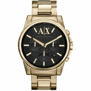 NEW MENS ARMANI EXCHANGE AX CHRONO GOLD OUTERBANKS WATCH - AX2095 - RRP £199