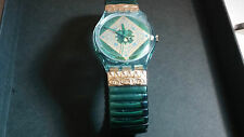 Swatch Watch, NOS Vintage, Green Band. Swatch Wrist Watch. Cool. Mint