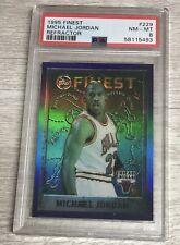 1995-96 Topps Finest Refractor Michael Jordan Card #229 PSA Near Mint-Mint 8