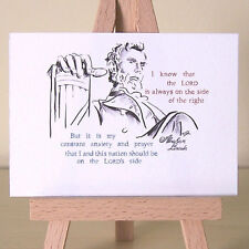 Abraham Lincoln on the Lord's side Quote America historical ACEO art card