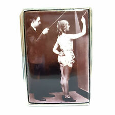 Large Sterling Silver Hallmarked 1910's Enamel Erotic lecturer Snuff Pill Box