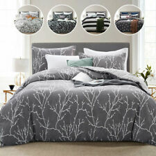 Modern 3 Piece Printed Quilt Cover Double Bedding Set Soft Duvet Comforter Cover