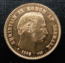 Denmark 1898 HC VBP Gold 10 Kroner UNC Better Date