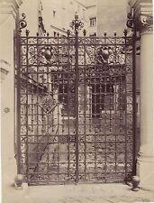 Grille à Tours ? Fer forgé Décoration France Vintage Albumine ca 1880