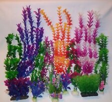 5 Pack Aquarium Artificial Plants - Various sizes