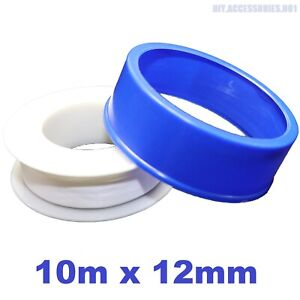 10m x 12mm PTFE White Plumbers Thread Seal Tape Teflon Water Plumbing Fitting