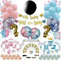 Gender Reveal Party Supplies-120-Pack Boy Or Girl Baby Shower decorations kit
