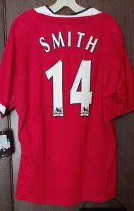 2004-06 Manchester United Alan Smith Kit Jersey Nike XL