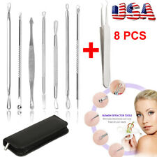8 X Stainless Blackhead Remover Kit Acne pimple Extractor Beauty Needle Tool Us