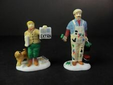 Dept 56 Christmas in the City City Professions House Painter and Newspaper Boy