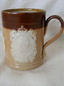 Rare Antique Royal Doulton George V Coronation Mug 1911