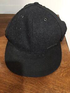 Sean John Black Baseball Hat With Wool Earmuffs. New