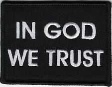 In God We Trust Christian Black White Patch VELCRO® BRAND Hook Fastener Compatib