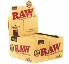 Raw Classic Connoisseur King Size Slim with Tips Rolling Paper Full Box 24 Pack