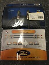 """NEW IXOS XHA516 Overture Gama Geometry Stereo 2 RCA Interconnect Cables 2M /6'7"""""""