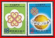"""CHINA TAIWAN 1983 COMMUNICATIONS YEAR """"SPECIMEN"""" SC# 2371-72 MNH GLOBE (E15)"""