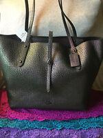 Coach Market Hologram Dark Gunmetal Leather TurnLock Shoulder bag Tote & Shopper