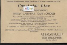 COASTWISE LINES 665 MARKET ST SAN FRANCISCO TO SEATTLE & PORTLAND WEEKLY 1939 AD