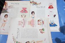Betsy McCall Original Paper Dolls Rare Visits Festival Roses, Williamsburg, 1960