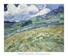 MODERN ART PRINT Landscape from Saint-Remy, 1889 - Vincent van Gogh Poster 28x34