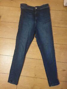 MISS SELFRIDGE  Blue High Waist ankle length Skinny stretch  Jeans Size 10