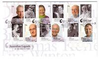 "2010 FDC Australian Legends of the Written Word. Pict.FDI  ""MELBOURNE"""