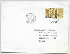VATICAN CITY COVER TO LONDON SG 692; 30/11/1978