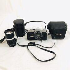 Minolta SR-1 Vintage Camera w Extras Lens 35mm 55mm