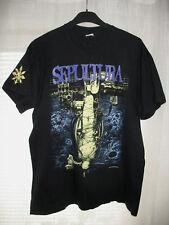 "Vintage Sepultura 1993 ""Chaos AD Tour"" Shirt Brasil Metallica Slayer Metal L/XL"