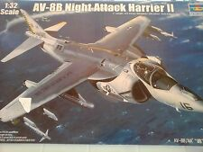 AV8 B HARRIER II NIGHT ATTACK 1/32 SCALE TRUMPETER MODEL+PHOTOETCHED+RUB.WHEELS