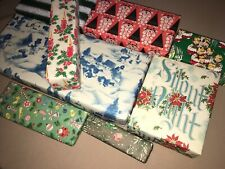 Vtg Christmas Wrapping Paper Gift Wrap Packages For Display Snowmen Santa Candle