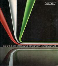 Fiat Motorshow 1978 UK Market Sales Brochure 126 127 128 Ritmo X1/9 131 132