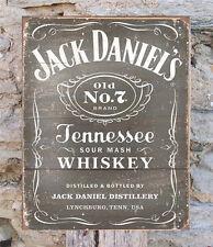 "Jack Daniels Whiskey Retro Metal Sign Wall Decor Man Cave Home Bar Gift USA 16"""