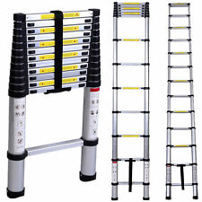 New 12.5ft Multi-Purpose Aluminum Telescoping Telescopic Extension Ladder Tall
