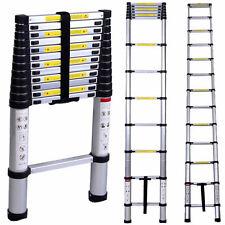 New 12.5ft Multi-Purpose Aluminum Telescoping Telescopic Extension Ladder Tall