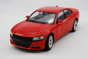 WELLY 2016 DODGE CHARGER R/T RED 1:24 DIE CAST METAL MODEL NEW 18cm LONG