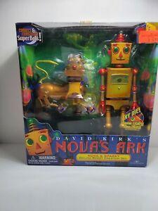 "1999 Trendmasters Nova's Ark Nova & Sparky Deluxe Robot Creation Set Figures 10"""