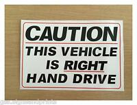 280X180MM A4approx. RIGHT HAND DRIVE STICKER SIGN CAMPER HGV AMERICAN CAR