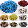 Wholesale Lot Metal Round Spacer Beads Jewelry Craft Finding 3mm 4mm 5mm 6mm 8mm