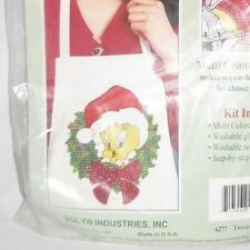 Simply Sequins Looney Tunes TWEETY BIRD Iron On Christmas Craft Kit Ugly Sweater