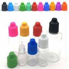 Clear PET Plastic Empty Dropper Bottles 3ML-100ML Liquid Long Tip Caps+Funnels