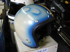1970's Shoei helmet Fancy Blue Stripe NOS Medium Harley Honda Kawasaki EPS14408