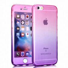 Samsung Galaxy S8 Plus + Full Body 360 Silikon Handyhülle Case Pink / Violett