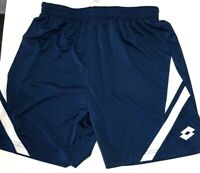 VTG Unisex Lotto Italian Sport Design Athletic Navy Blue Shorts, Trunk Size S