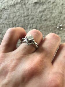 White gold wedding ring (4.5 size)