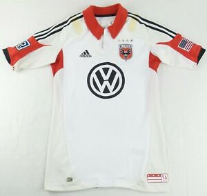 Vintage Adidas TechFit Player Issue 2012 D.C.United Soccer Jersey Size Mens 8
