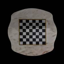 Scacchiera Classica Tavolo in Marmo Italiano Marble Table Chess Board 60x60cm