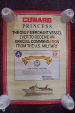 Cunard Princess Poster Operation Desert Storm